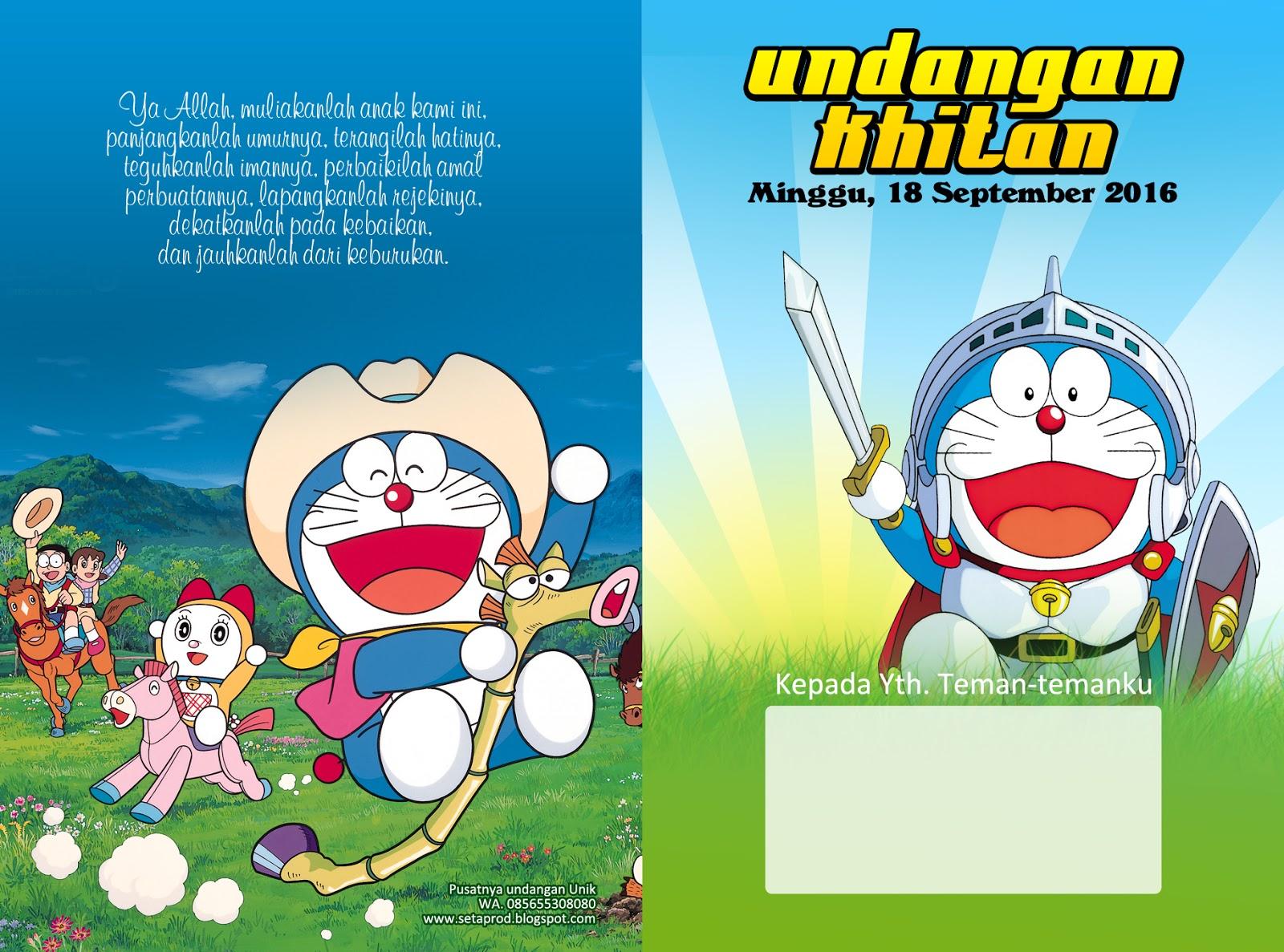 Percetakan Lamongan Undangan Khitan Kartun Animasi Anak Anak