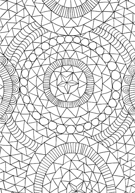 Coloring Book Page From The Mindfulness Coloring Book Antistress Art  Therapy For Busy People By Emma Farrarons Courtesy The Experiment  Publishing