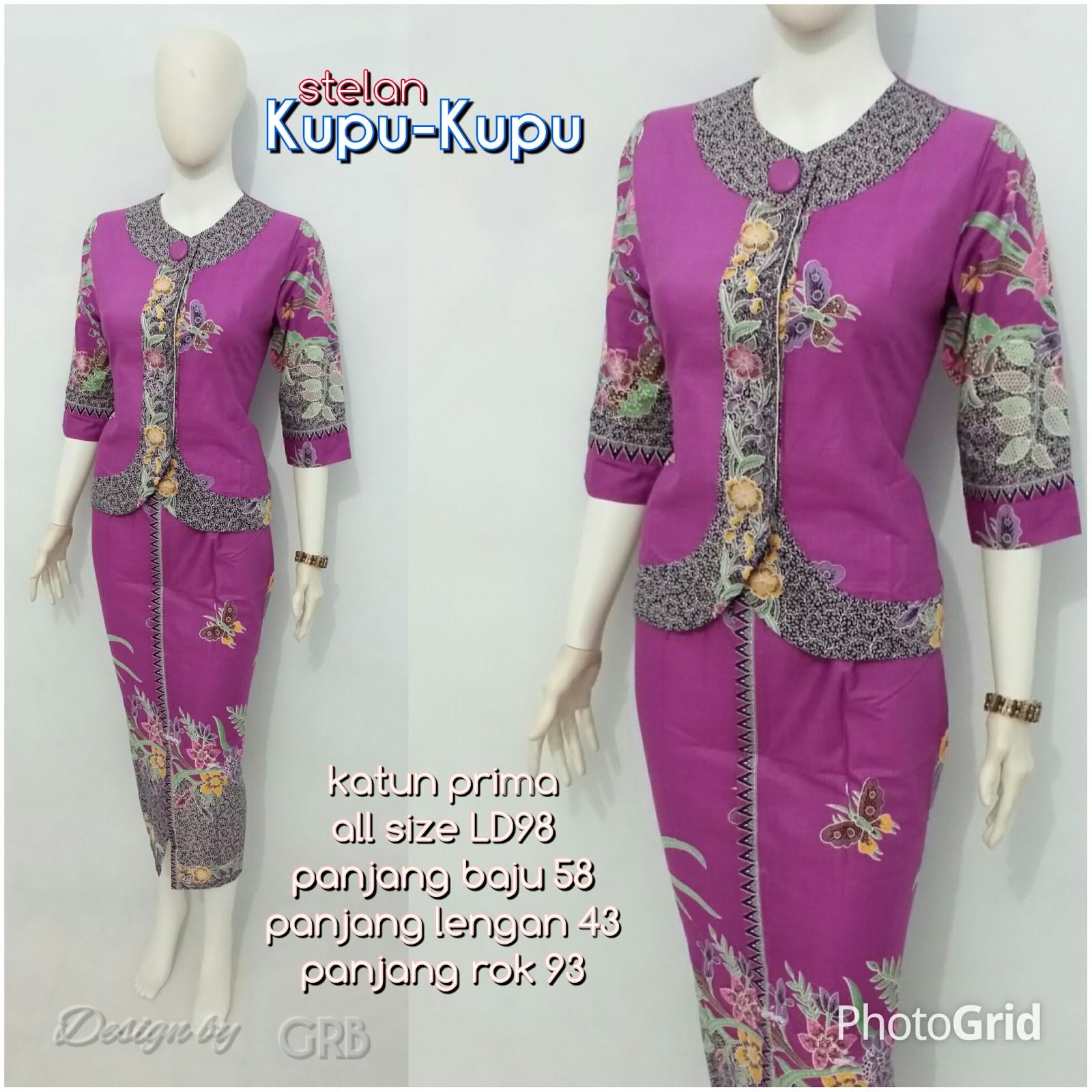 Top Desain Baju Kerja Batik Wanita Modern | 1001desainer