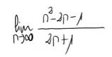 13. Límite de una sucesión (cociente de polinomios) 8