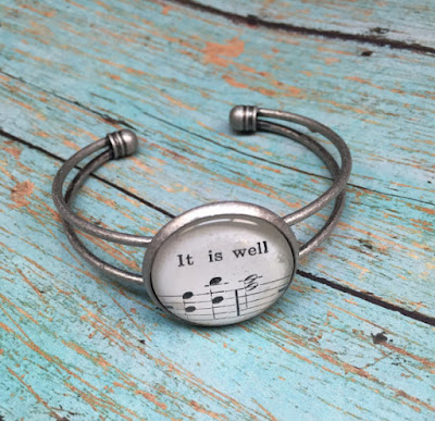 silver cuff hymn lyric music christian bracelet spring handmade jewelry