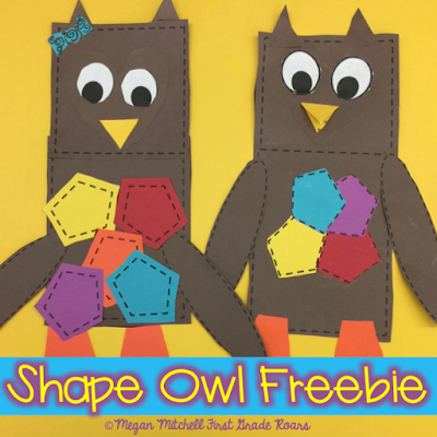 Whoooo's Learning their Shapes? - First Grade Roars!