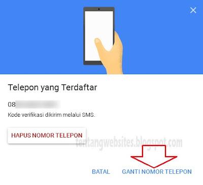 Cara mengganti nomor telepon verifikasi di gmail