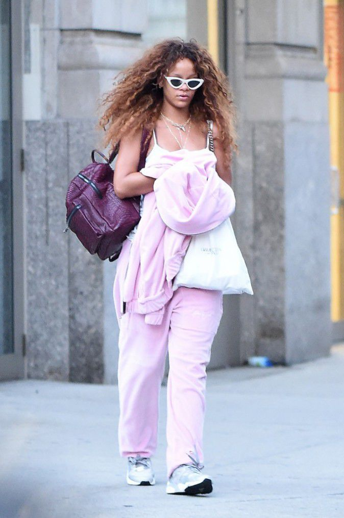 Rihanna En route to the airport in New york