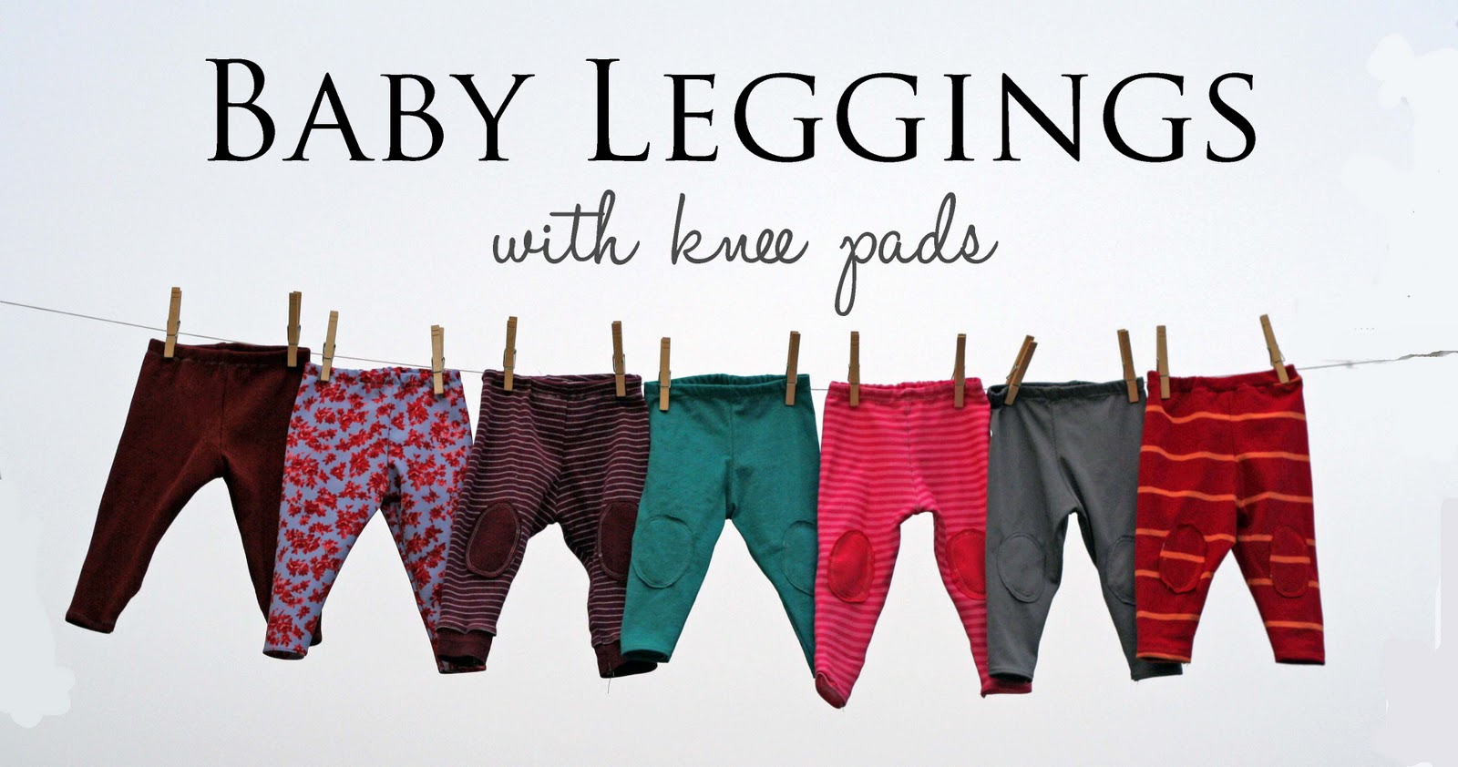 Running With Scissors Baby Leggings With Knee Pads