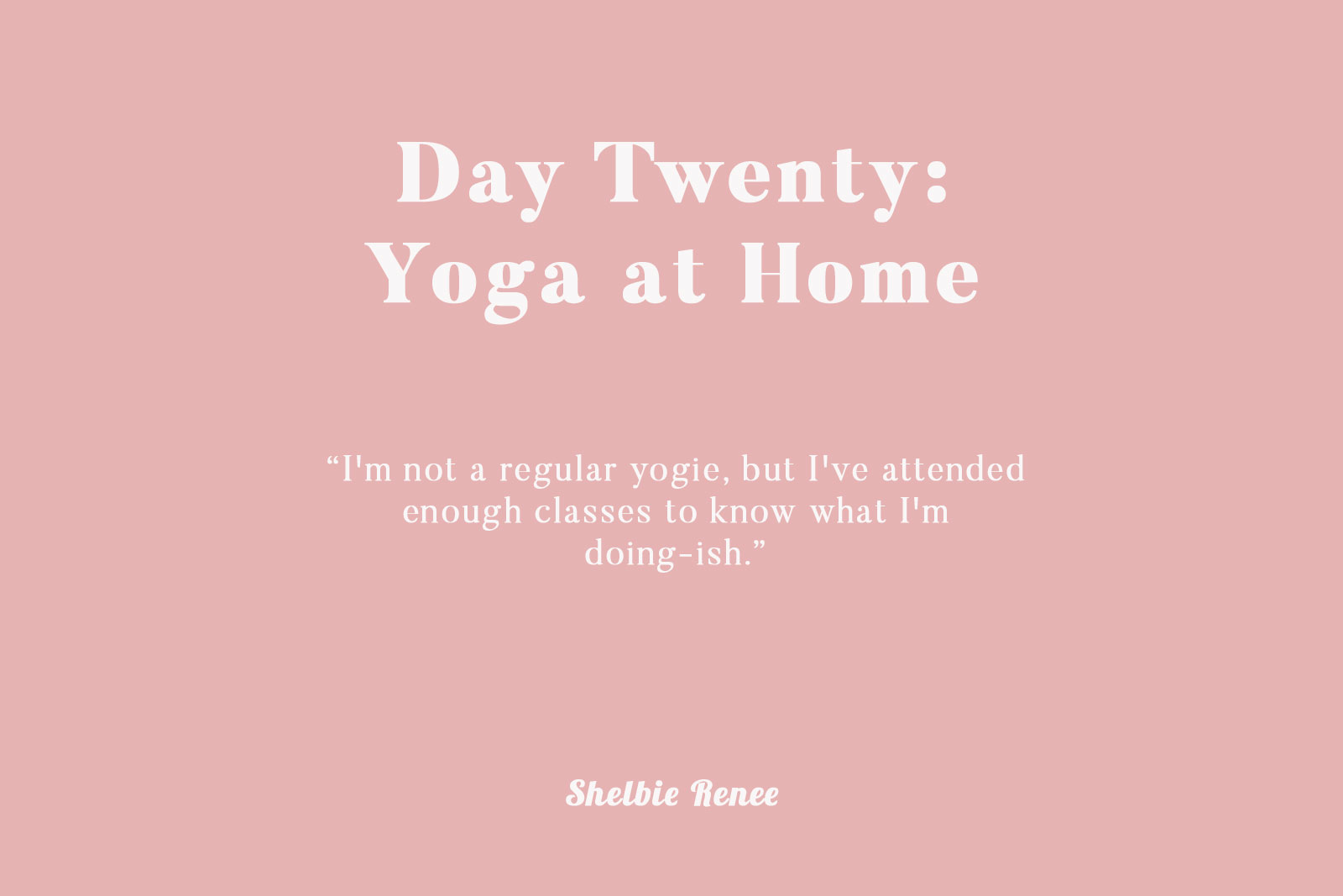 After my run — even though it wasn't very long — I was sore! I needed to  stretch my legs, so yoga was an easy decision. I'm not a regular yogie, ...
