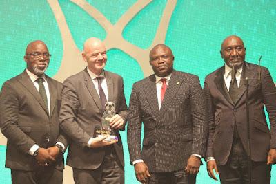 Infantino in Lagos FIFA