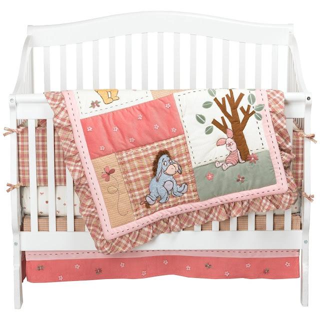 Winnie The Pooh Crib Bedding Set, Pink Winnie The Pooh Baby Bedding