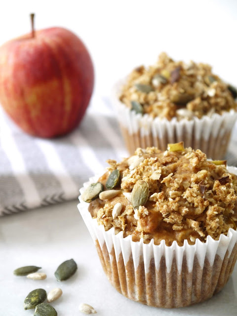 Spiced Apple Crumble Muffins | The Betty Stamp