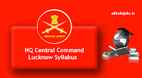 HQ Central Command Lucknow Messenger Syllabus