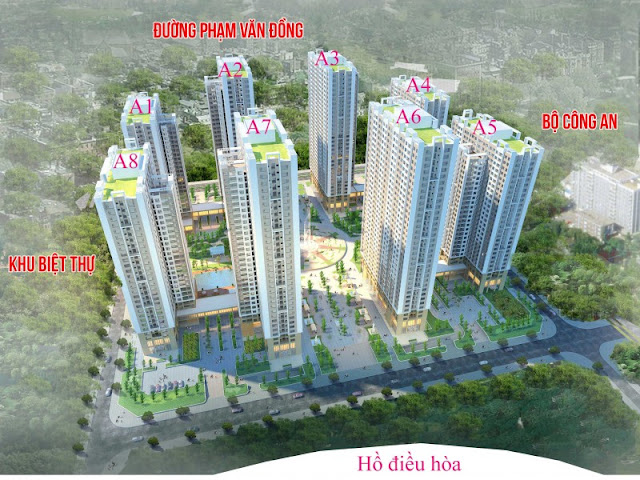 Mặt bằng tổng thể dự án Chung Cư An Bình City Phạm Văn Đồng