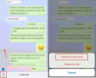 Cara Menghapus pesan whatsapp terkirim