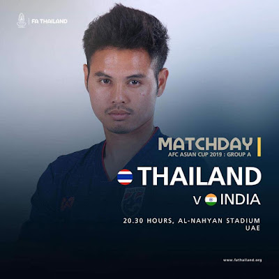 Live Streaming Thailand vs India AFC 2019 6.1.2019