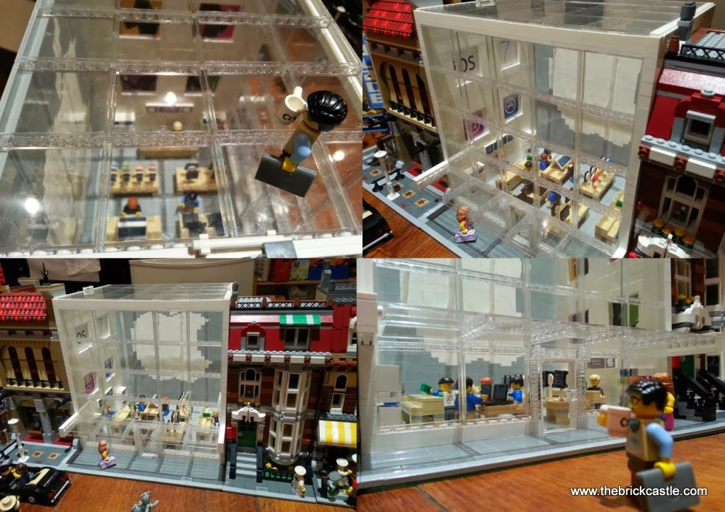 Giant LEGO Apple shop self-build designed modified