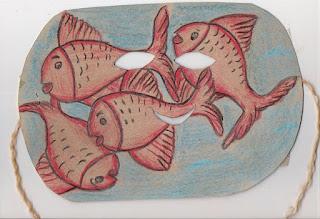 Páscoa máscara de peixinhos