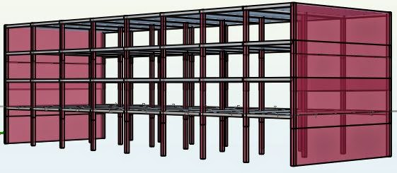 Representation of the storeys of the structure before design