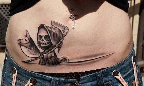 cute baby grim reaper tattoos sevimli azrail dövmeleri