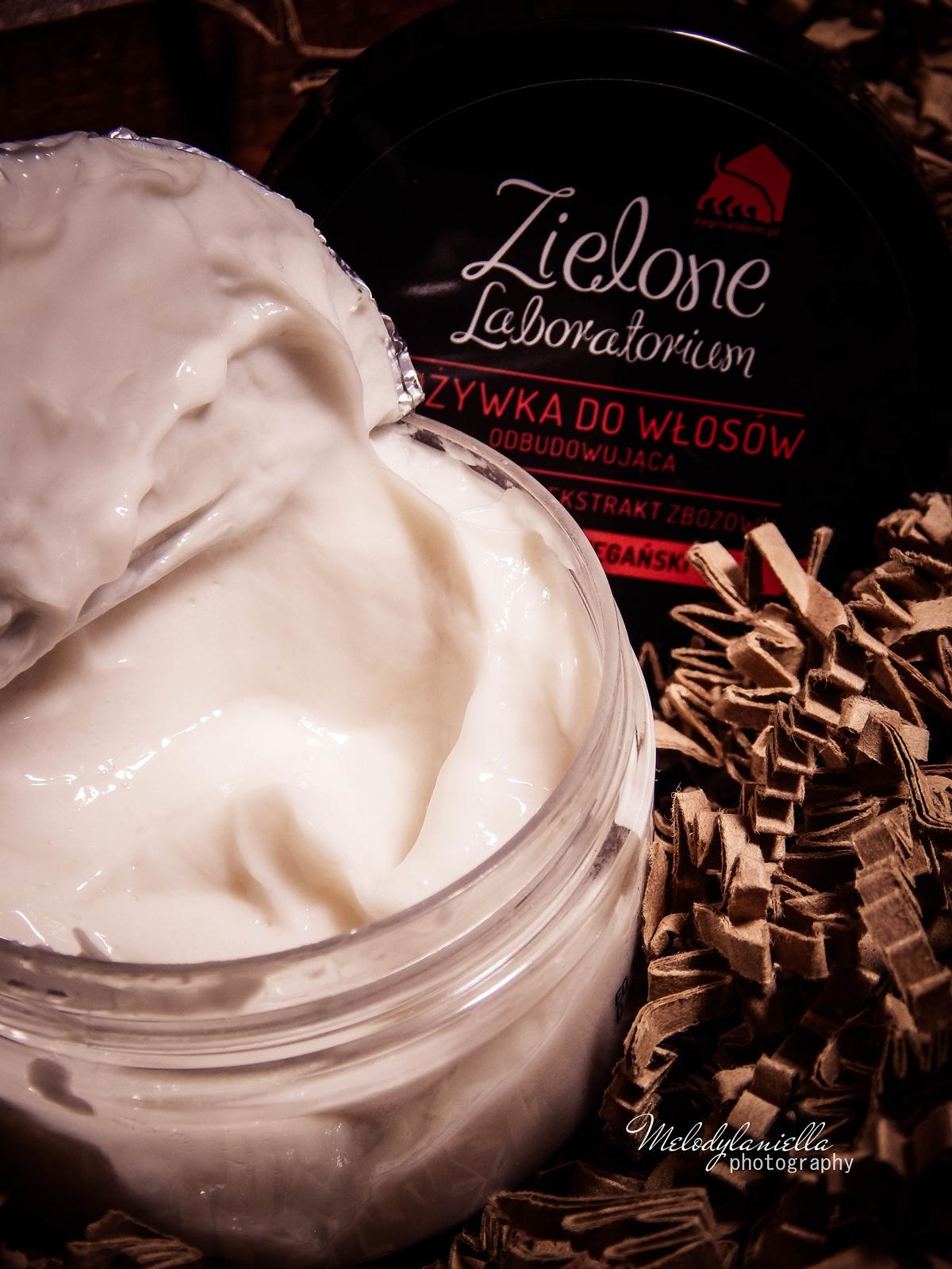 zielone laboratorium odżywka do włosów odbudowująca kosmetyki wegańskie żel do mycia szampon aromaterapeutyczny kosmetyki o mocnych zapachach olejki eteryczne kosmetyki naturalne konsystencja