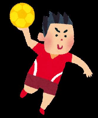 オリンピックのイラスト「ハンドボール」