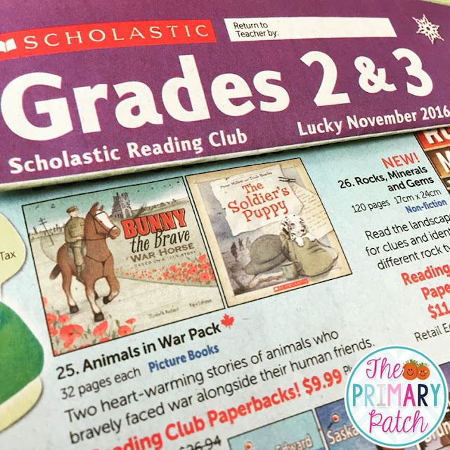 Grades 2 & 3 Scholastic Reading Club, November 2016