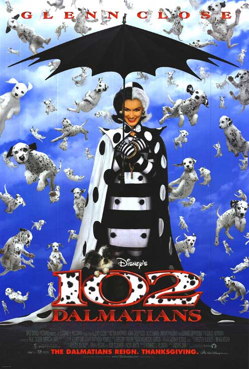 102 Dalmatians movie poster