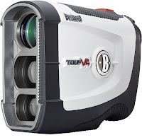 Bushnell Tour V4 Rangefinder, with PinSeeker and JOLT technology, 5x magnification, multi-coated optics, fast focus system, LCD display