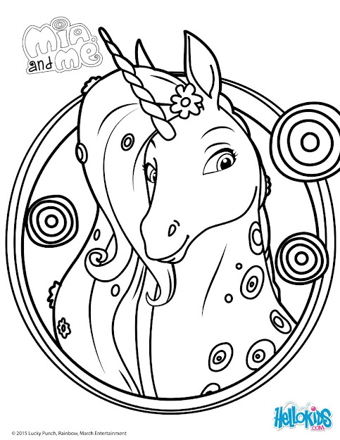 Mia And Me Lyria Coloring Page