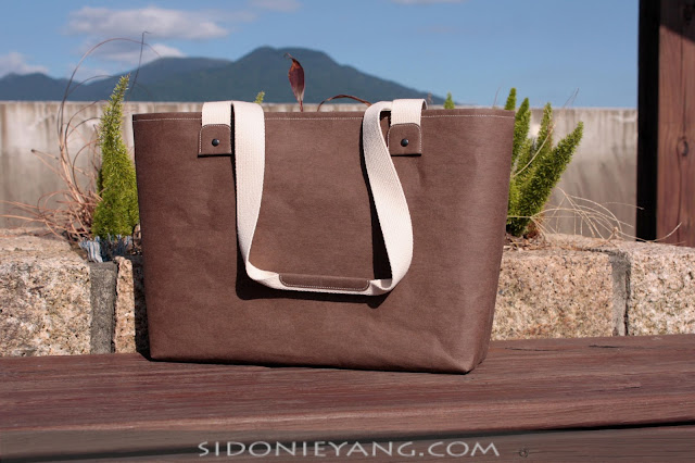 可水洗牛皮紙托特包 Washable Kraft Paper Tote Bag