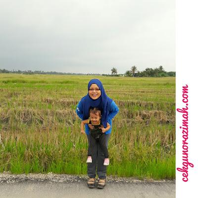 balik kampung, cuti-cuti, cuti-cuti malaysia, irfan hensem, dhia zahra, sepupu