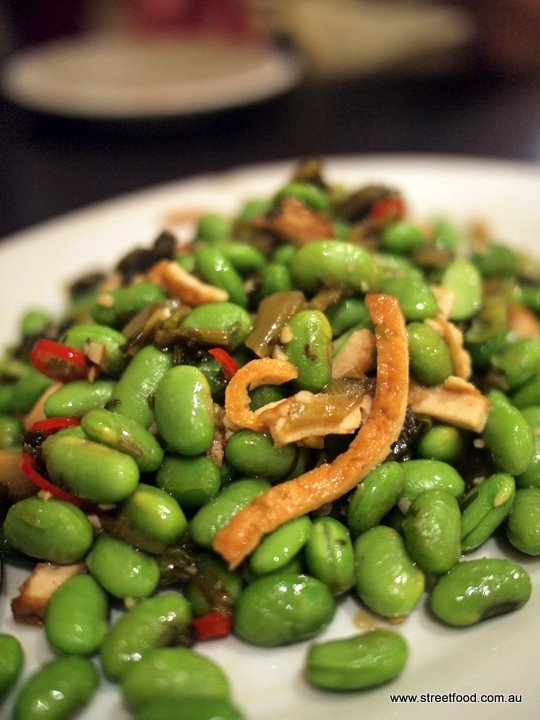 B kyu ying chow chinese restaurant adelaide bbc broadbeans beancurd with chinese chutney 1050 we thought the broadbeans were actually soybeans but is was so delicious we didnt worry forumfinder Images