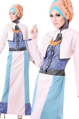 model baju batik muslim remaja trendy