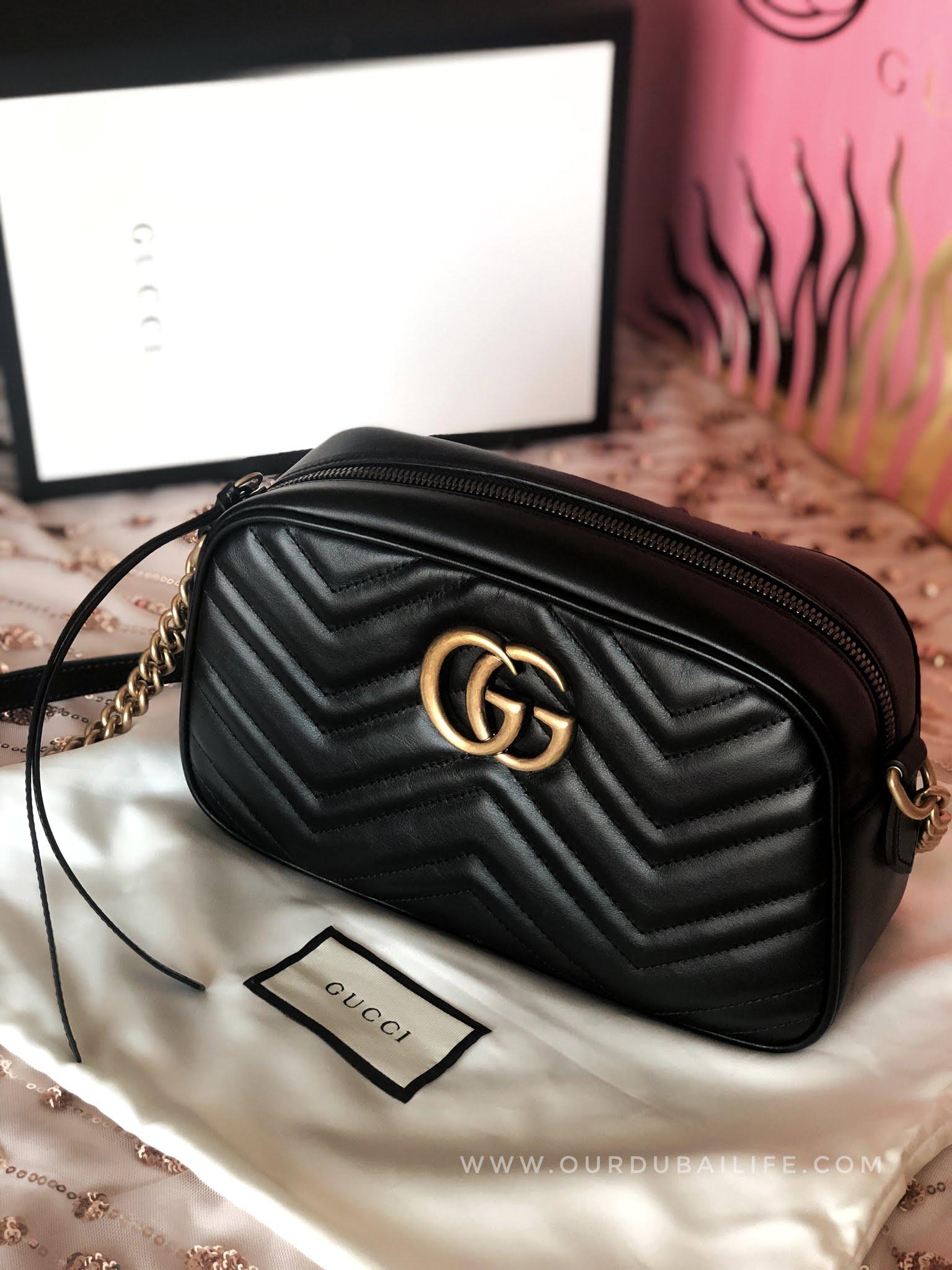 GUCCI MARMONT black camera bag unboxing