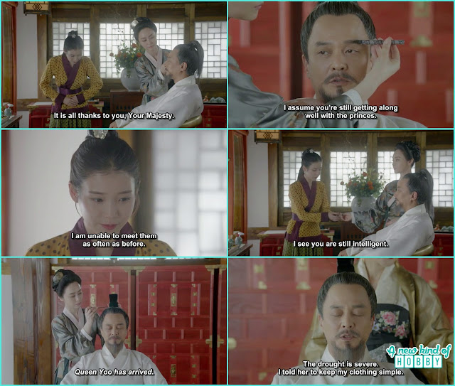 the royal concubine did king taejo makeup with the help of Hae Soo - Moon Lover Scarlet Heart Ryeo - Episode 8 - Review