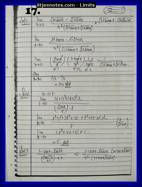 limit notes7