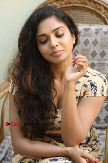 Telugu Actress Karunya Chowdary Stills in Short Dress at ATM Not Working Press Meet  0255.jpg