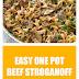 Easy One Pot Beef Stroganoff