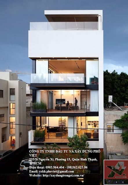 giá xây nhà phố trọn gói tại tphcm
