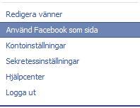 byta namn på företagssida på facebook