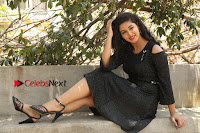 Telugu Actress Pavani Latest Pos in Black Short Dress at Smile Pictures Production No 1 Movie Opening  0093.JPG