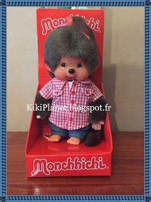 La Monchhichi chemise vichy - réf 20059 kiki, kiki le vrai, sekiguchi, jouet vintage