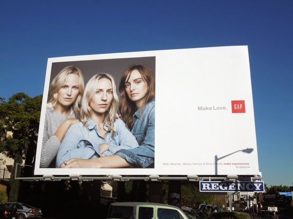 Gap Make love billboard