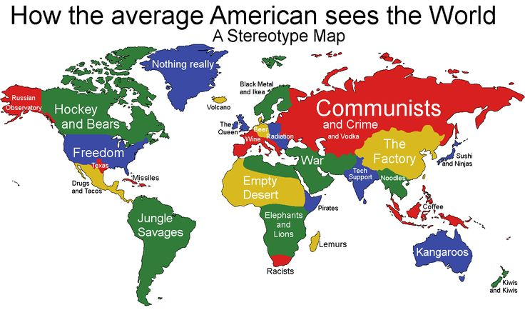 How Average Americans See The World funny joke picture
