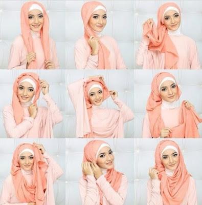 Tutorial hijab wisuda segi empat terbaru