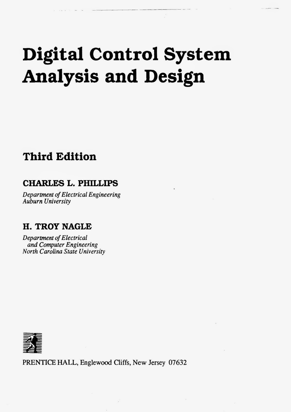 Free Book Bank Digital Control System Analysis And Design 3rd Edition By Charles L Philips Pdf Free Downoad