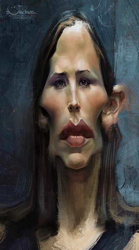 Jennifer Garner por Alexander Novoseltsev