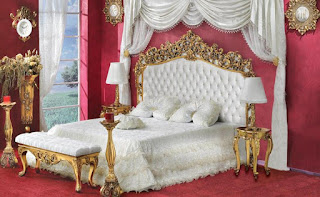 jual mebel jepara klasik ukiran tempat tidur ukir cat emas ukiran jepara