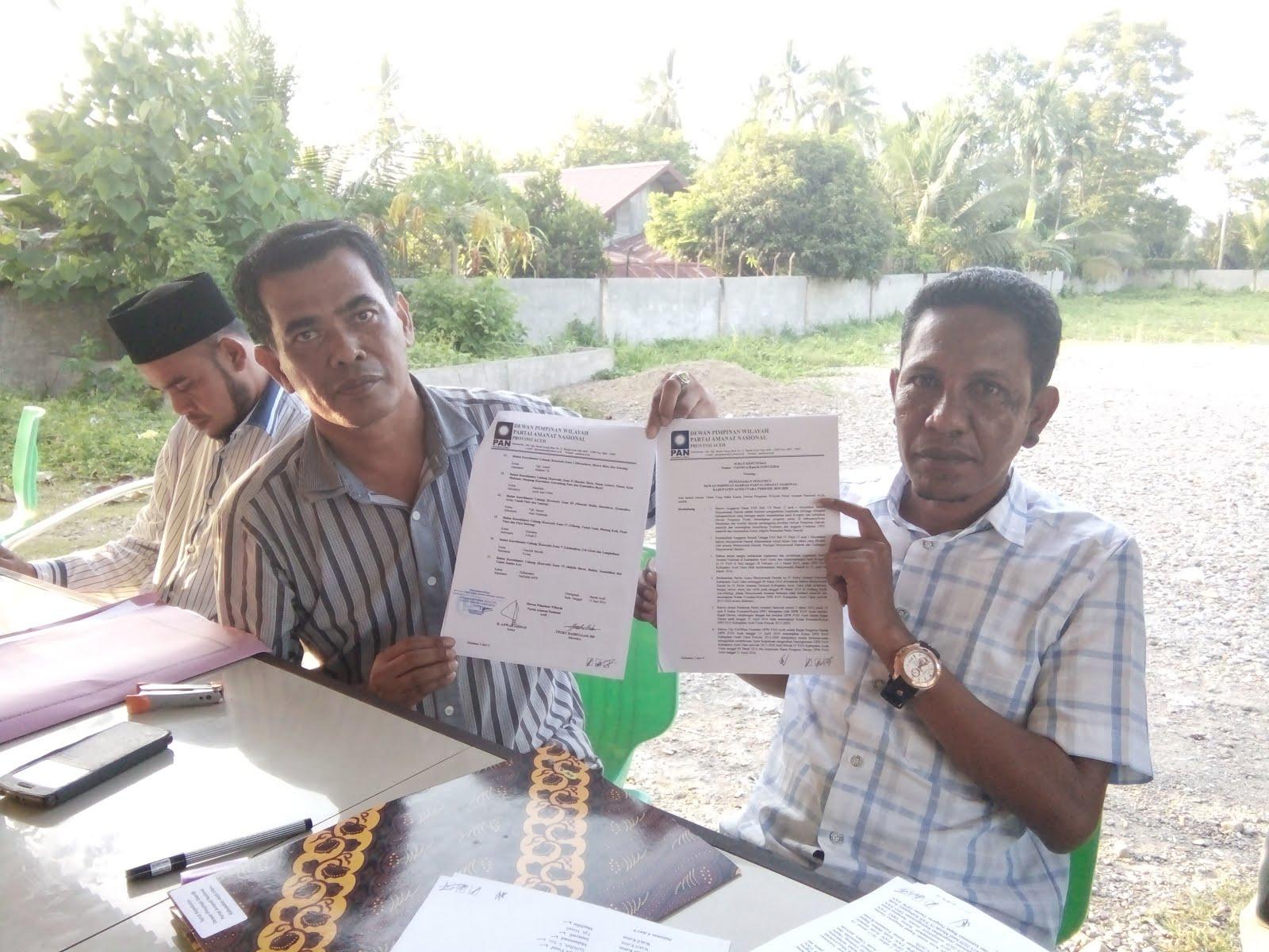 Ini Penjelasan DPW PAN Terkait Ketua Baru DPD PAN Aceh Utara
