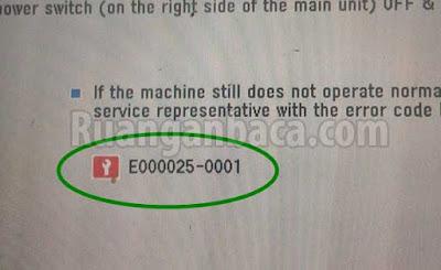 Cara Memperbaiki Error e025 Mesin Fotocopy canon IR