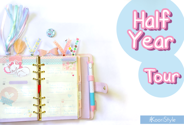Koori Style, KooriStyle, Planner, Kikki K, Kikki, Filofax, Tour, 2016, Half Year, Monthly, Weekly, Cute, Kawaii, Decoration, Inserts, Time planner, Ring planner, stickers, Stationery, Bookmarks, Post its, Envelope, Bag, DIY, Video