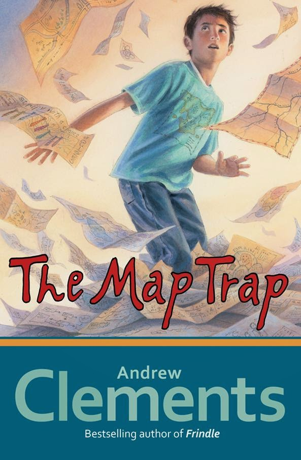 Map Trap by Andrew Clements book cover chapter book mystery